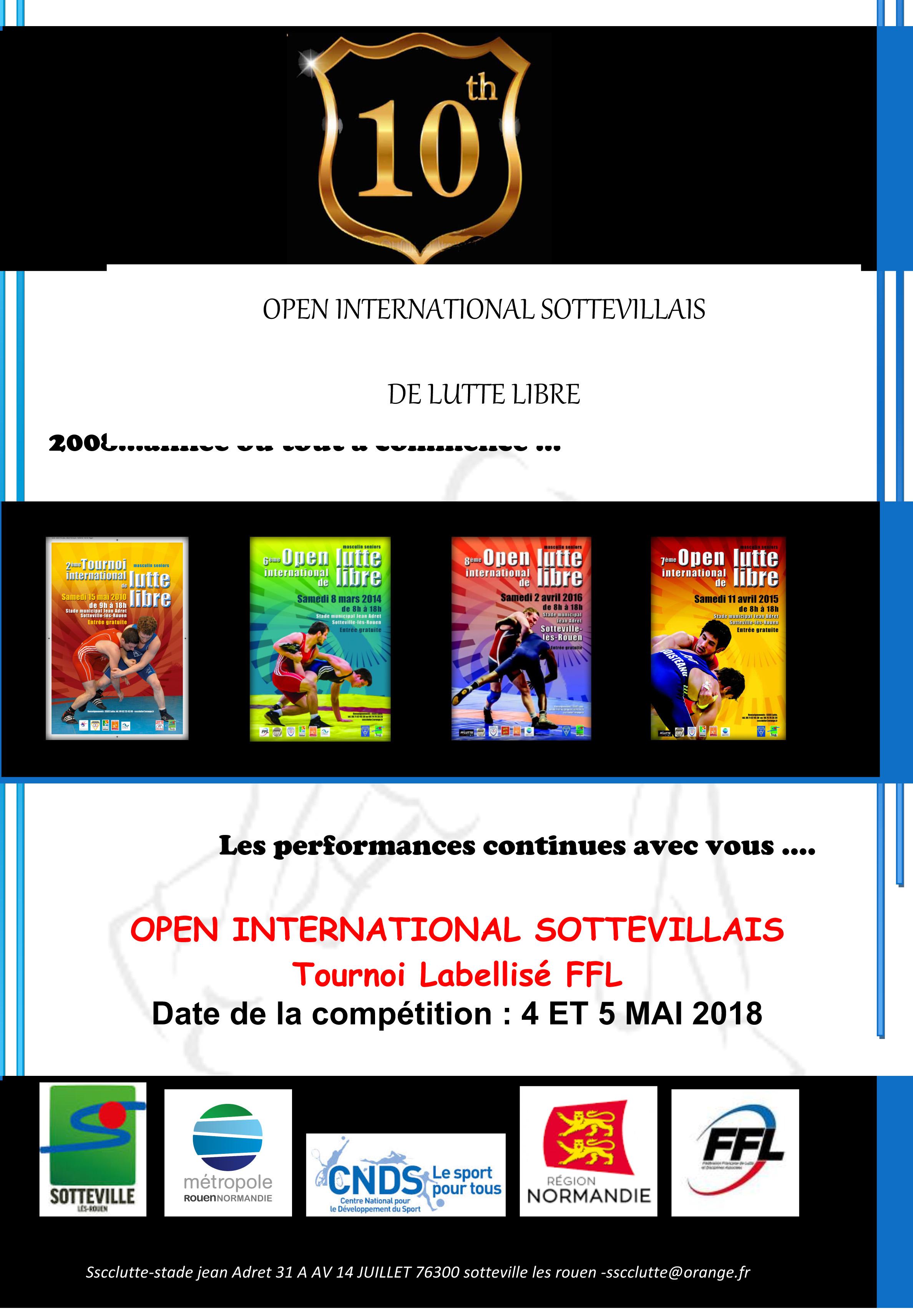 Open International Sottevillais @ Stade Jean Adret | Sotteville-lès-Rouen | Normandie | Frankrijk