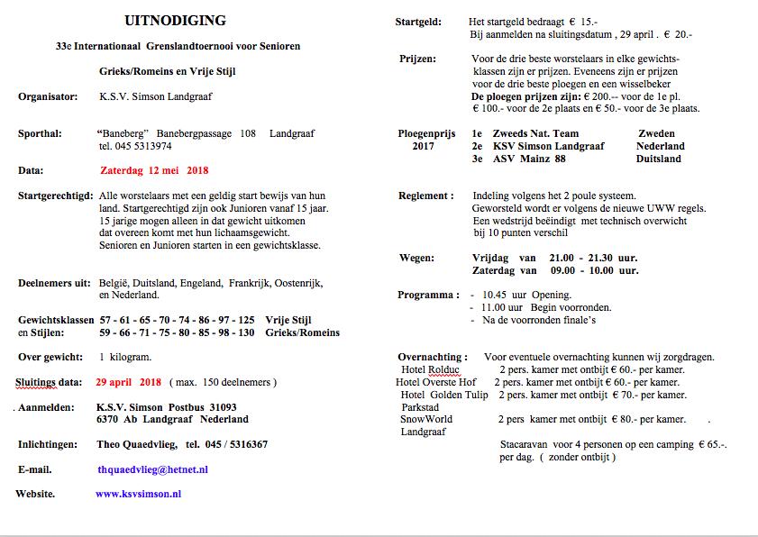 Grenslandtoernooi @ Sporthal Baneberg | Landgraaf | Limburg | Nederland