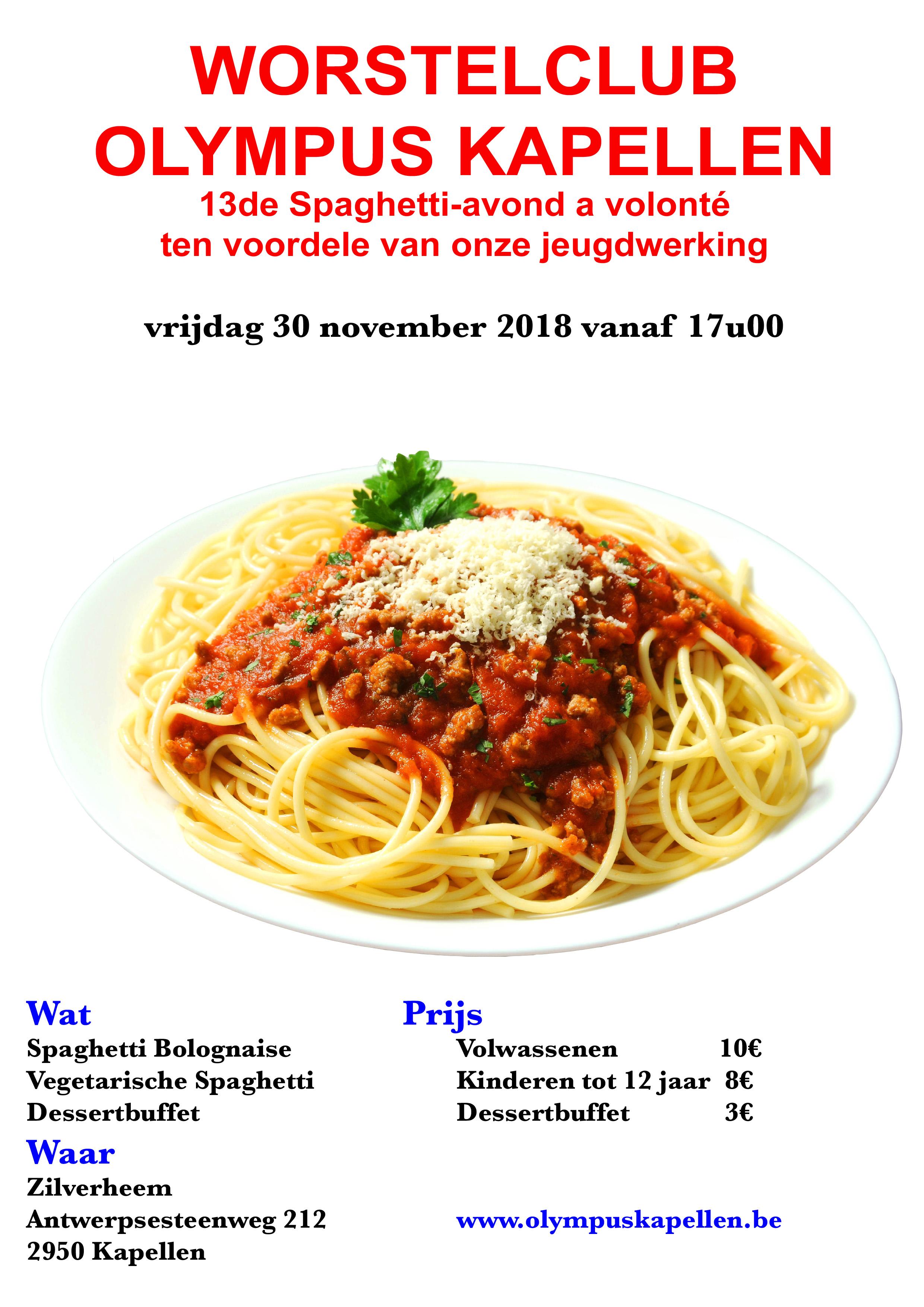 Spaghetti avond @ Zilverheem | Kapellen | Vlaanderen | België